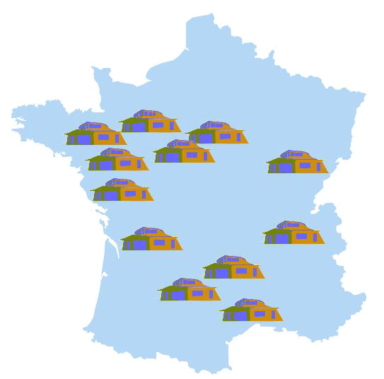 carte de France de ma maison autonome